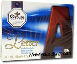 Droste Chocolate Letter 'A' Milk - 135gr.