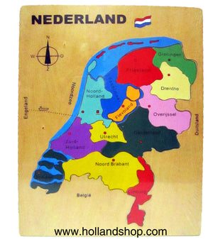 Puzzle - Wood Holland Provinces