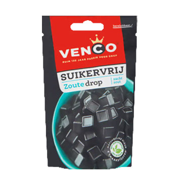 Venco Soft Salt Drop Sugar Free - 100g.