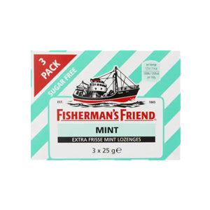 Fisherman's Friend Mint Sugar Free (3 Pack) - 75gr.