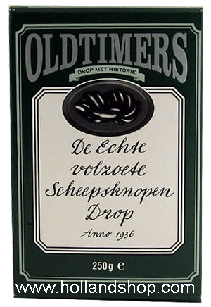 Old Timers Scheepsknopen Licorice (Green) - 225gr.