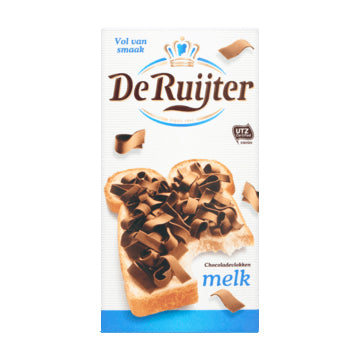 DeRuijter Milk Chocolate Flakes - 300gr.