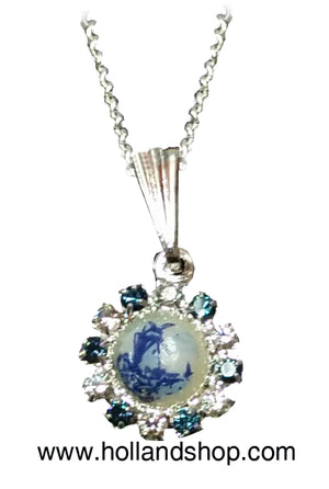 Delft Blue Necklace - Rozette