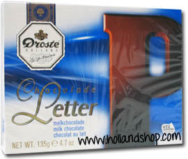 Droste Chocolate Letter 'P' Milk - 135gr.