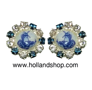 Delft Blue Earring - Rozette