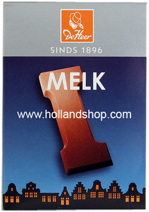 DeHeer Chocolate Letter 'I' Milk - 65gr.