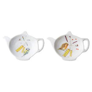 "Marjoelin Bastin - Tea Bag Holder in Giftbox (Set of 2) ""Tweet & Whistle"""