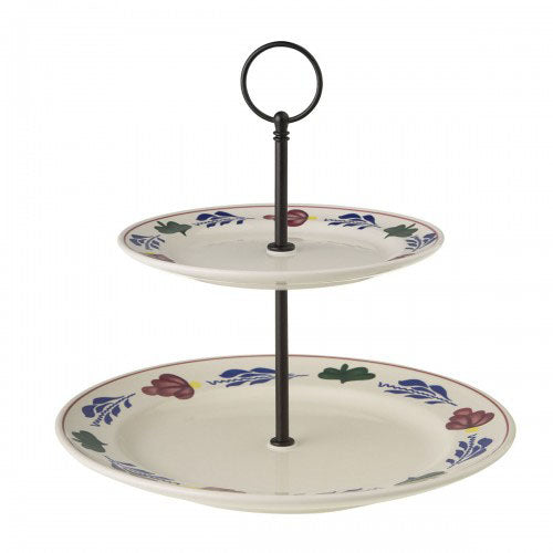 Boerenbont 2 Tier Serving Plates (17.5 & 25.5cm)