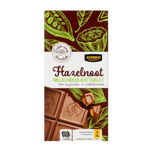 Jumbo Chocolate Bar Milk/Hazelnut - 200g.
