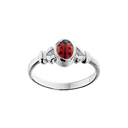 Ladybug Ring (Fancy Small) - size 13.5mm (2 1/4)