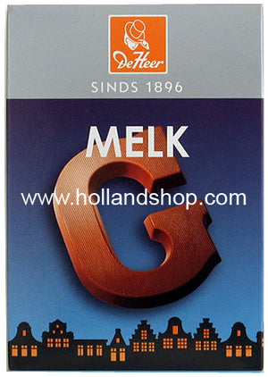 DeHeer Chocolate Letter 'G' Milk - 65gr.