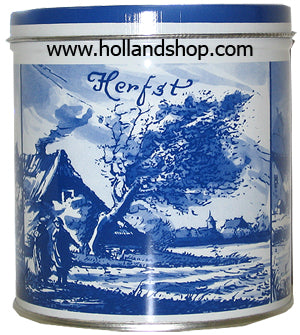 Stroopwafel Tin Delft Blue Seasons