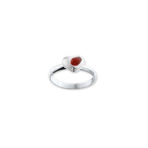 Ladybug Ring (Heart with Angled Bug) - Multiple Sizes