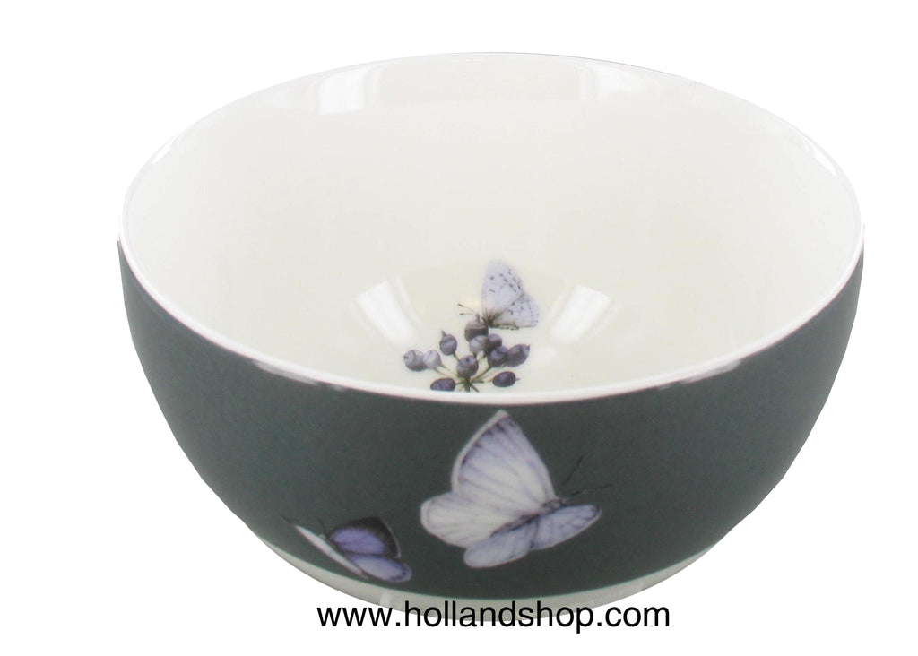 "Marjolein Bastin - Bowl Blue Berry Grey Border (15cm) ""Sketch of Nature"""