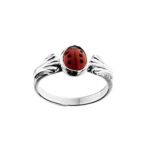 Ladybug Ring (Shell Small) - Size 13mm (1 1/2)