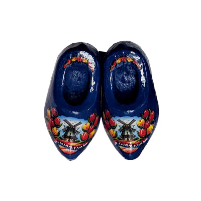 Magnet - Pair Wooden Shoes (Blue) 4cm.