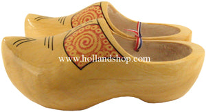 Wooden Shoes - Yellow/Farmer - 22cm (European Size 34-35)