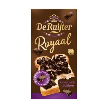 DeRuijter Royale Extra Pure Chocolate Flakes - 300gr.