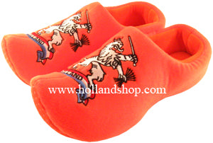 Slippers - Wooden Shoes - Orange Lion Size 45-47