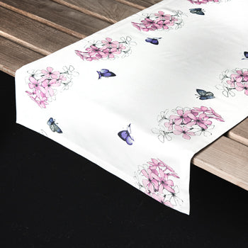 "Marjolein Bastin - Table Runner Flox/Butterfly (50x150cm) ""Sketch of Nature"""
