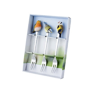 "Marjoelin Bastin - Cake Forks with Giftbox (Set of 3) ""Tweet & Whistle"""