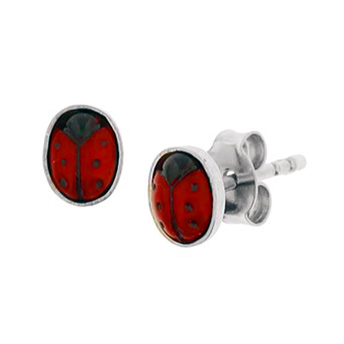 Ladybug Earrings - Stud (Small Bug)