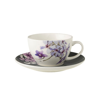 "Marjolein Bastin - Cup & Saucer Flox (Grey/White) ""Sketch of Nature"""