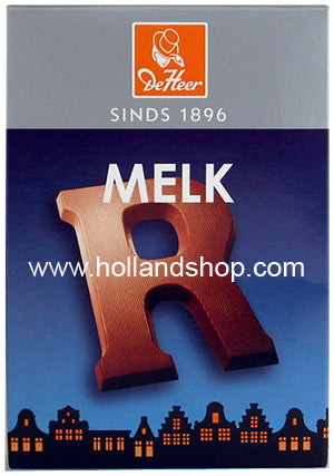 DeHeer Chocolate Letter 'R' Milk - 65gr.