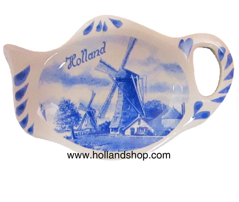Tea Bag Holder - Delft Blue (10cm)