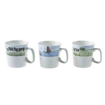 Wiebe Van der Zee - Mini Mugs (Set of 3) 210mL