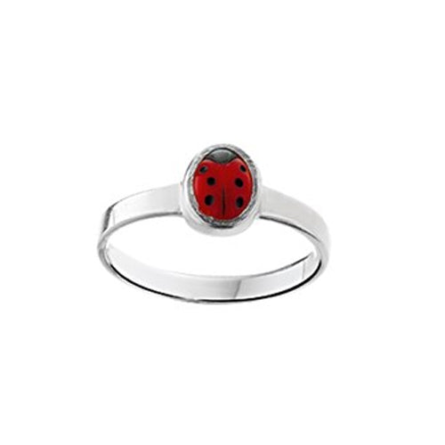 Ladybug Ring (Plain Small) - Size 14.5mm (3 1/2)