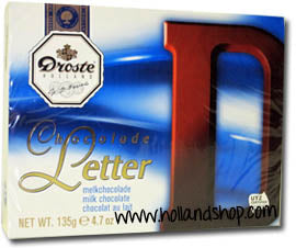 Droste Chocolate Letter 'D' Milk - 135gr.
