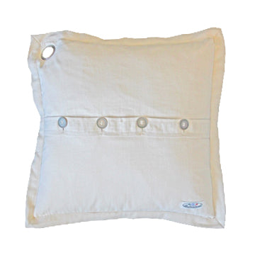 Boerenbont Pillow - Ecru Plain with Buttons (50x50cm)
