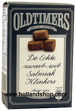 Old Timers Salmiak Klinkers (Grey) - 225gr.