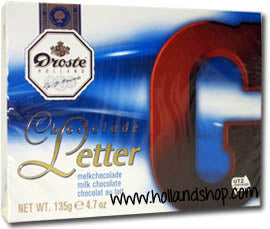 Droste Chocolate Letter 'G' Milk - 135gr.