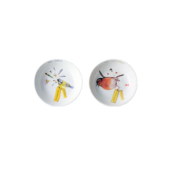 "Marjoelin Bastin - Bowls Tiny (12cm) Set of 2 ""Tweet & Whistle"""