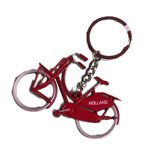 Keychain - Bicycle Holland (Red)