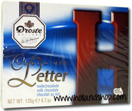 Droste Chocolate Letter 'H' Milk - 135gr.