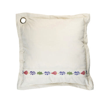 Boerenbont Pillow Cover - Ecru Boerenbont with Buttons (50x50cm)