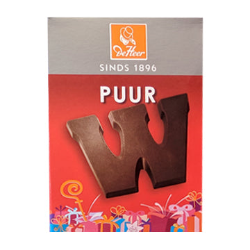 DeHeer Chocolate Letter 'W' Pure - 65gr.