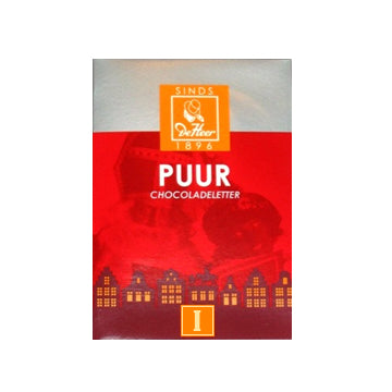 DeHeer Chocolate Letter 'I' Pure - 65gr.