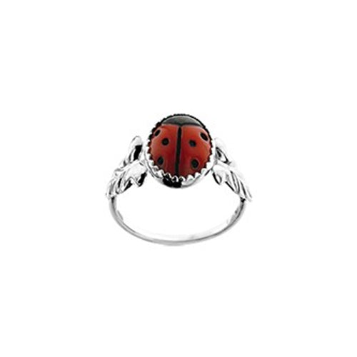 Ladybug Ring (Leaf Large) - Size 13mm (1 1/2)