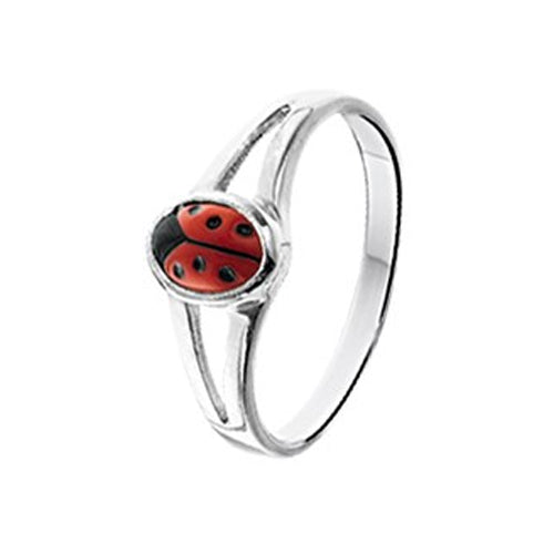 Ladybug Ring (Split Band) - Multiple Sizes