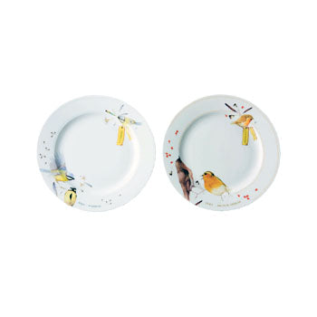 "Marjoelin Bastin - Plates (18cm) Set of 2 ""Tweet & Whistle"""