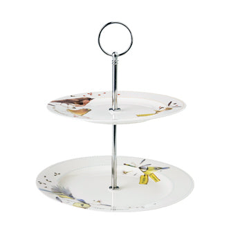 "Marjoelin Bastin - 2 Tier Serving Plates (18 & 21cm) ""Tweet & Whistle"""