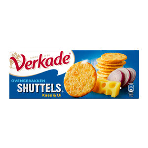 Verkade Cheese & Onion Crackers - 150gr.