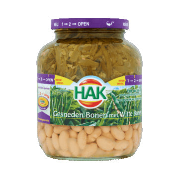 Hak Sliced Green /White Beans - 680gr