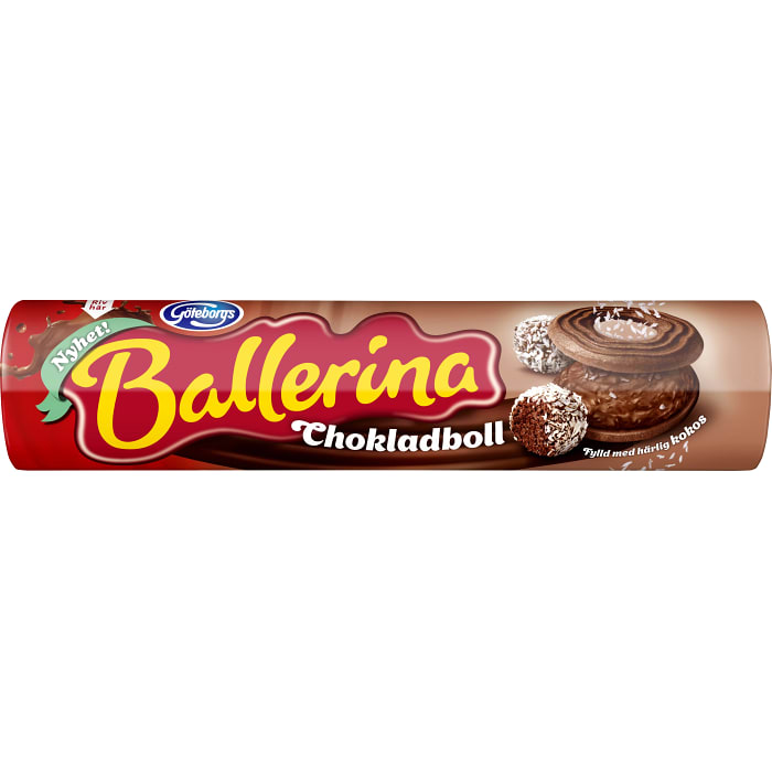 Göteborgs Kex Ballerina - Biscuits With Chocolateball Filling 190g