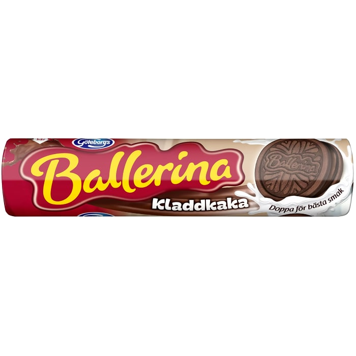 Göteborgs Kex Ballerina Kladdkaka - Biscuits with Sticky Cookie Filling 210g