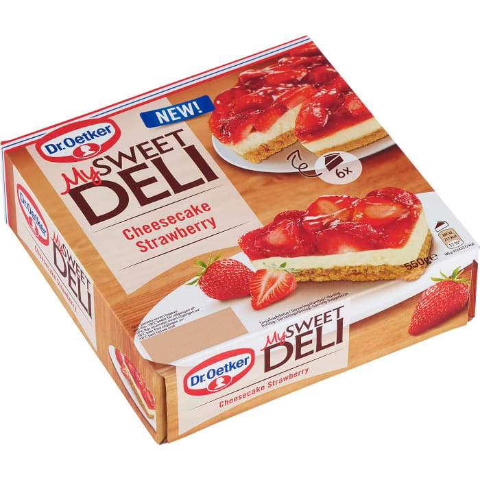 Dr Oetker Sweet Deli Cheescake Strawberry Frozen - 550g